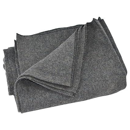 Amazon.com: Gris Lana Ejército Grande/tipo de manta Surplus ...
