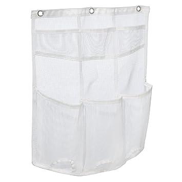 interdesign una bathroom over door mesh shower caddy for shampoo conditioner soap white