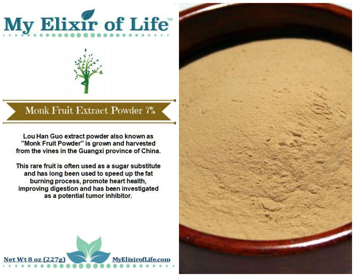 Luo Han Guo EXTRACT Powder MONK FRUIT -7% Mogrosides Powder 8 oz