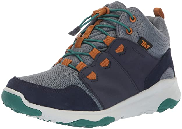 Teva Boys' Arrowood 2 MID WP Hiking Shoe, Midnight Navy, 04 M US Big Kid best kids' hiking shoes