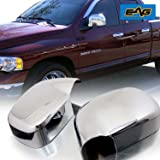 E-Autogrilles Triple Chrome Plated ABS Mirror Covers for 02-08 Dodge Ram 1500 / 03-09 Dodge Ram 2500 / 3500 (65-0200)