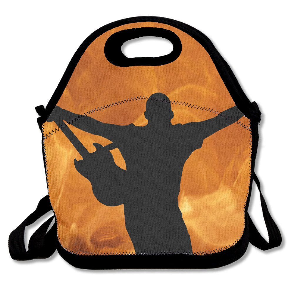 Amazon.com: FutongHuaxia Guitarist Simple Outdoor Lunch Bag ...