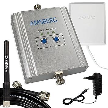 GSM repetidor – Juego completo, Teléfono móvil amplificador 17dbm regulable, conversaciones D Red (