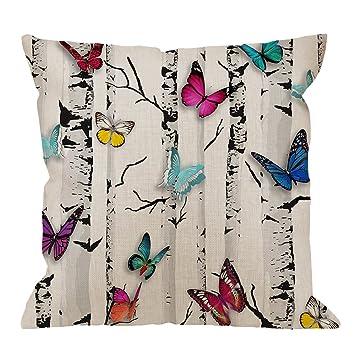Amazon.com: HGOD Designs - Funda de almohada con patrón rojo ...
