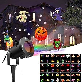 Decoración Interior Fiesta Lámpara Proyector LED Halloween Navidad ...