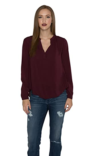7f35da38410 Velvet by Graham and Spencer Rosie03 Rayon Challis V Neck Top, Plum ...