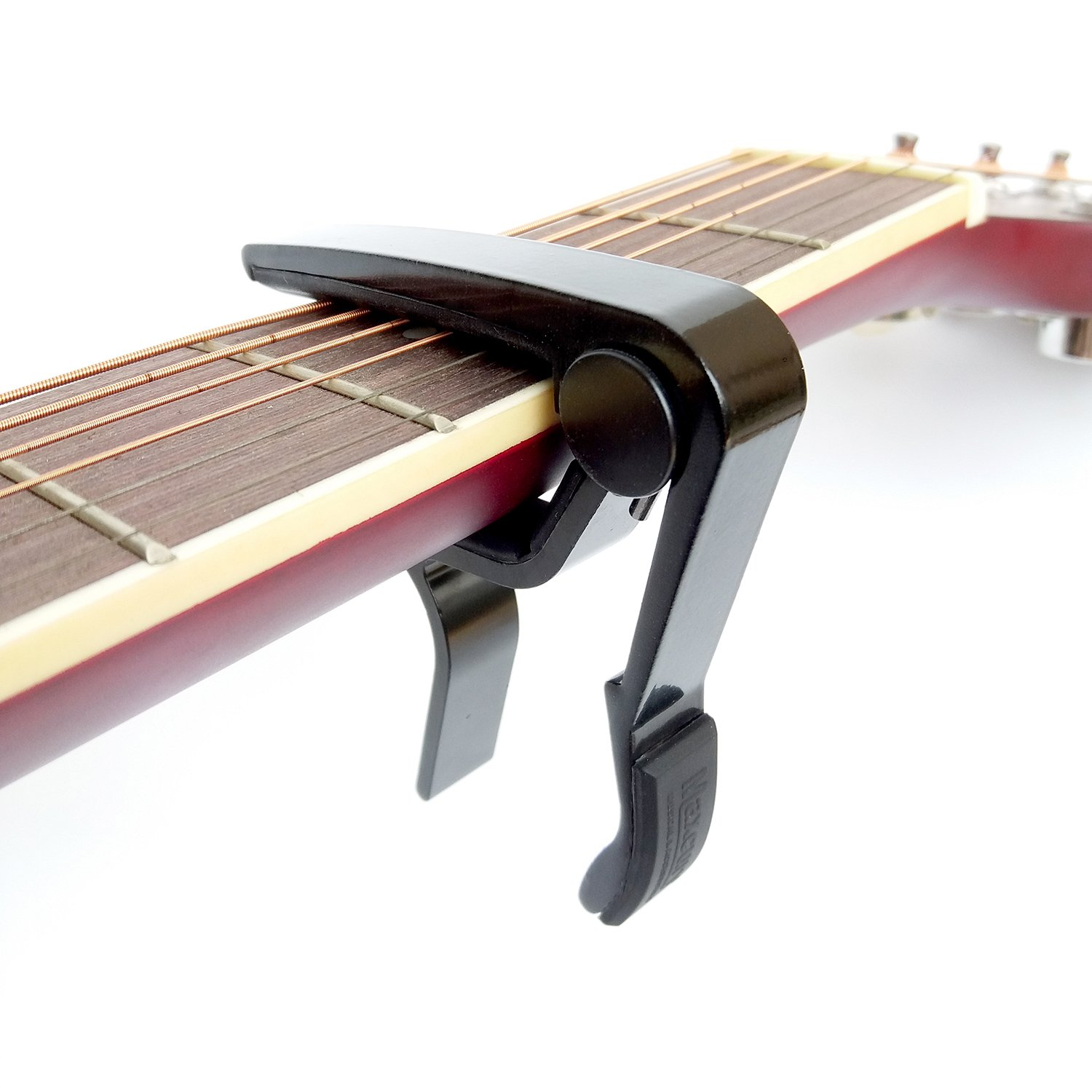 MAXCURY Colorful Single-handed Guitar Capo Quick Change (Black) MA-10
