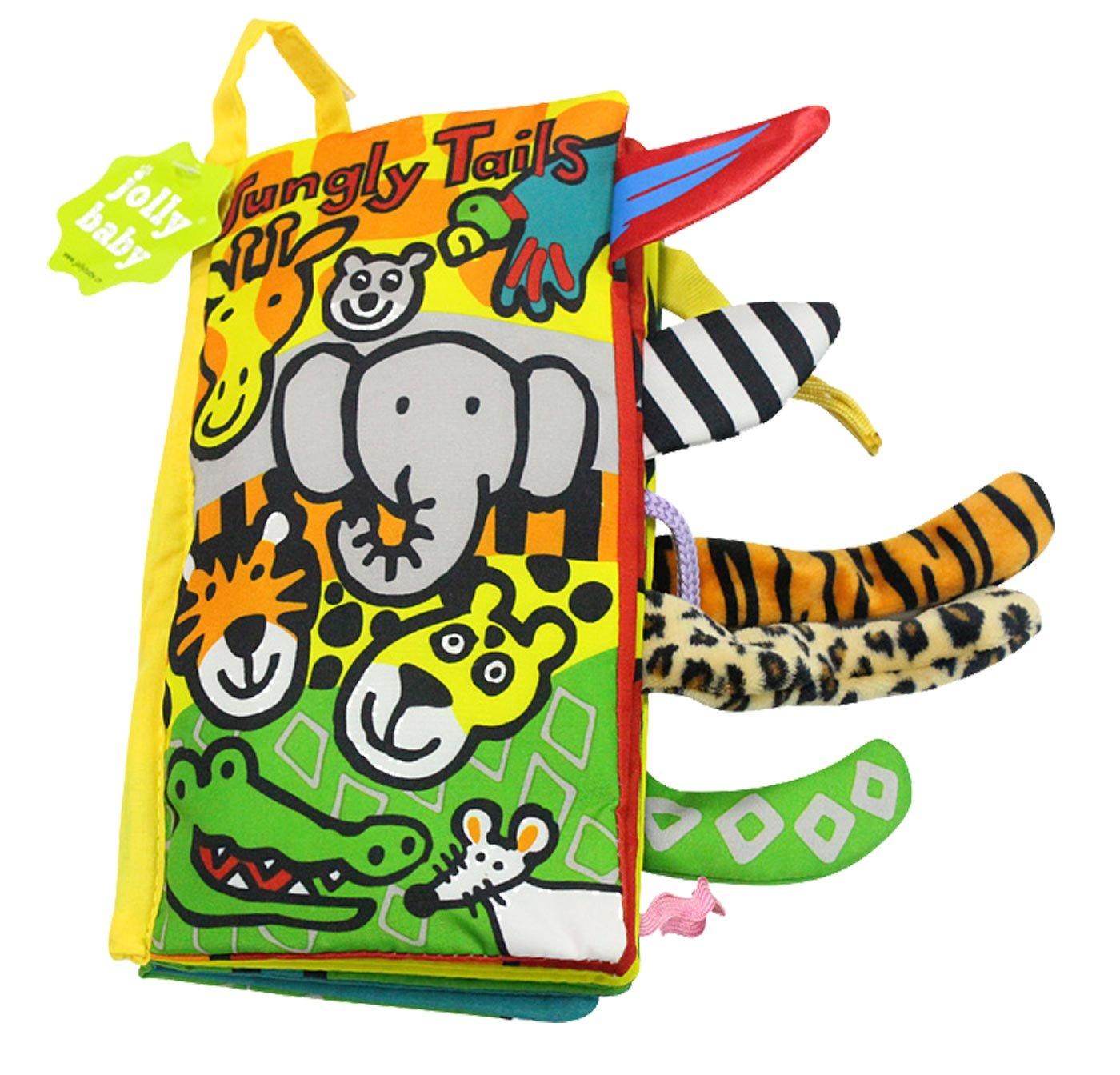 Jollybaby - Juguete Libro Blando para Bebés de Actividad Educativo Peluche Infantil Multifuncional Libro de Paño Animal - 1
