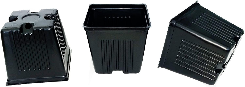 "seeds, 3 1//2/"" Square-Durable-Lightweight-Nursery Pots Plastic USA Cuttings"