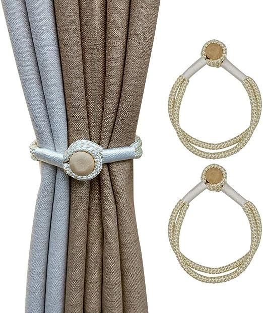 2x U-shape Sheer Curtain Tie Backs Drape Tieback Holdback Window Treatment