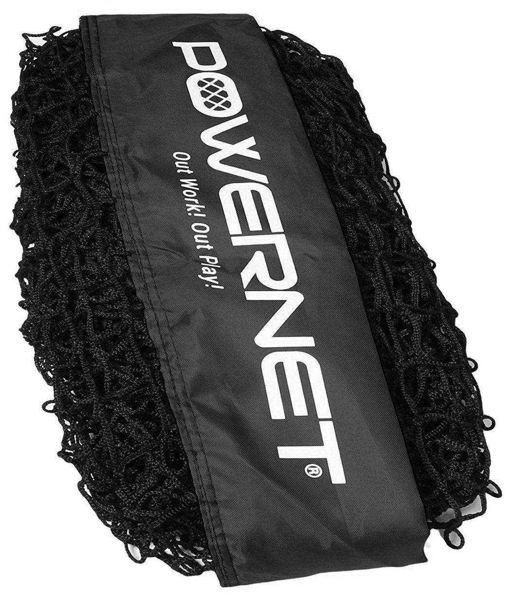 PowerNet Team Color Nets Baseball and Softball 7x7 Bow Style (NET ONLY) Replacement | Heavy Duty Knotless | Durable PU Coated Polyester | Double Stitched Seams for Extra Strength (Black) by PowerNet