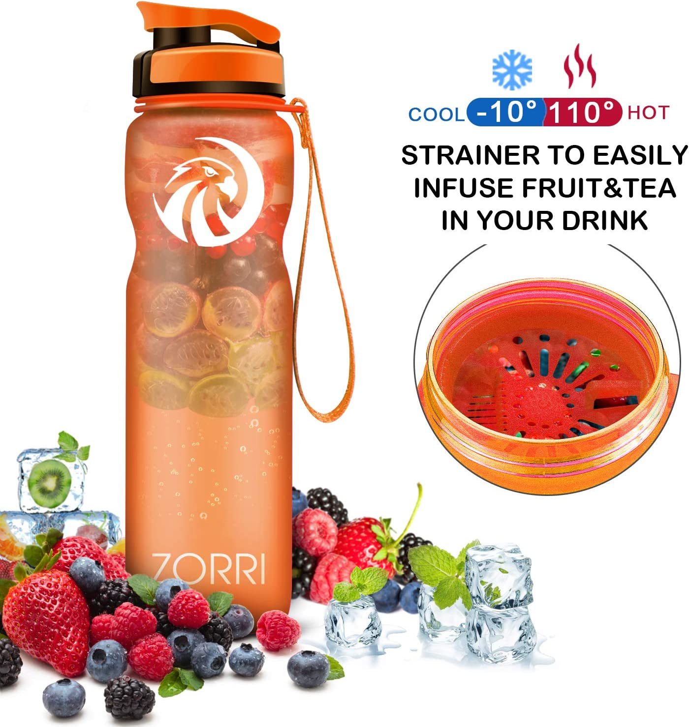 1.2L//1 Liter // 800// 600ml BPA Free Leak Proof Drinking Bottles With Filter /& Flip Top Lid For Gym,Camping,Cycling,Hiking,Yoga,Running Best Sports Water Bottle Eco-Friendly Large Reusable Bottles