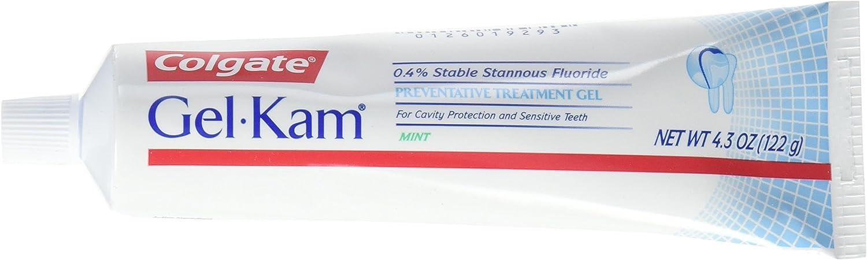 Colgate, PPAX1176035, Gel-Kam Fluoride Preventive Treatment, Gel Mint Flavor, 4.30 Ounce Tube, 1 Pack
