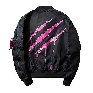 2fca106fd965 Marvin Cook Black Red Bomber Jacket Men Streetwear Fly Jackets Coats Hip  Hop Coat Size XS