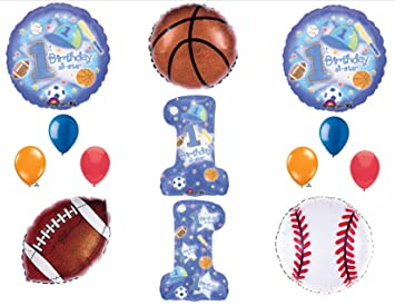 Amazoncom 1st First Happy Birthday party balloon Sports All Star