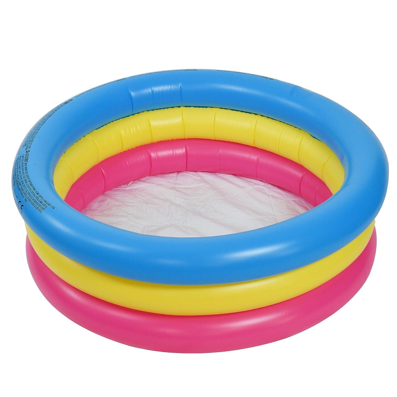 3 Ring Inflatable Paddling Pool Children Kids Swimming Pool Outdoor Garden