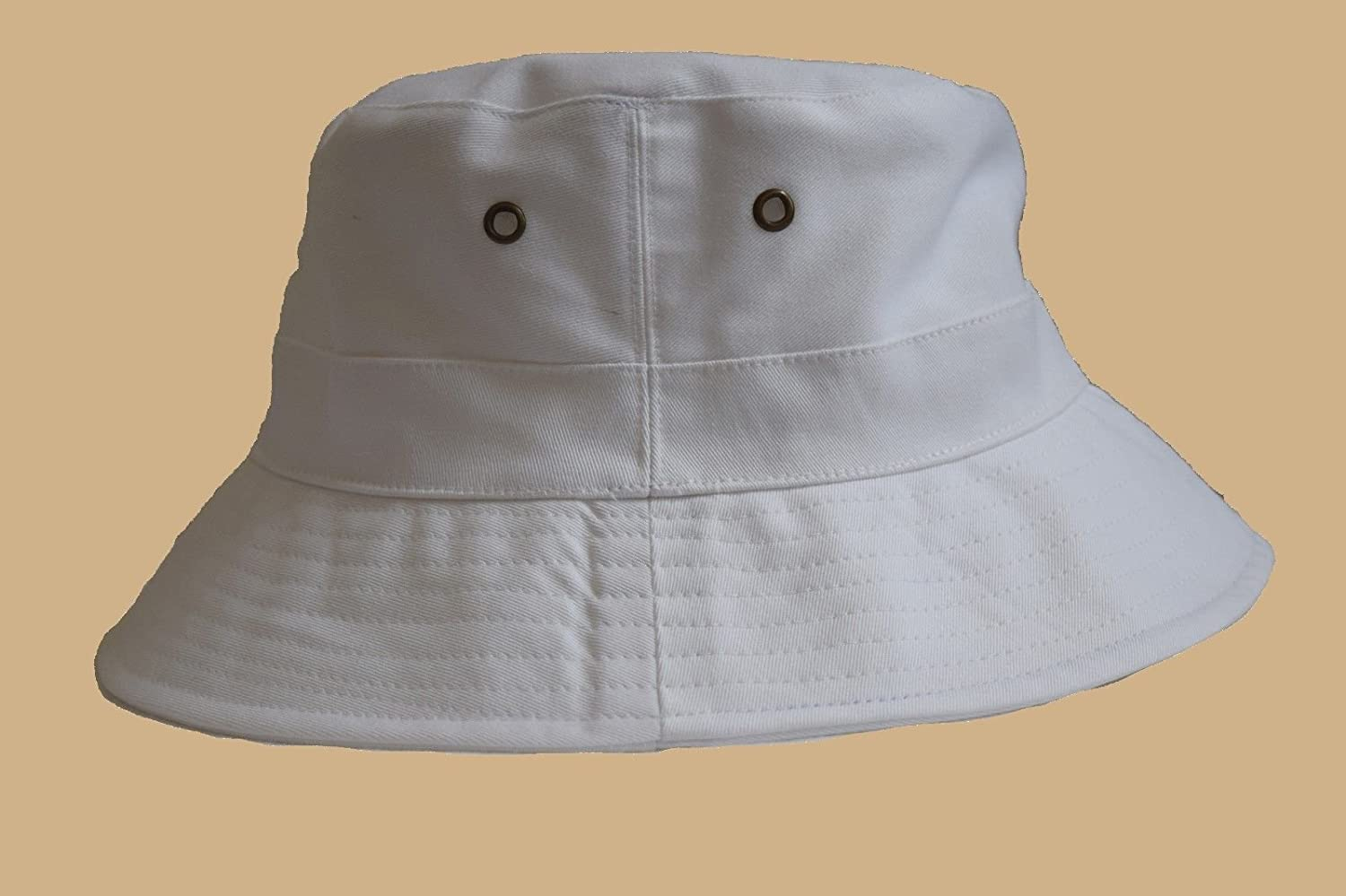 ea089b061c57e6 Amazon.com : White Bucket Hat Cap Boonie Cotton Fishing Hunting Safari Sun  Men Women Brim : Baby