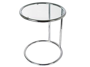 Leitmotiv Tn646 Couchtisch Glas Chrom S Amazonde Küche Haushalt