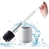 BOOMJOY Toilet Brush,Wall Mounted Toilet Bowl Brush with Holder for Bathroom,Soft Silicone Bristle,1Pack