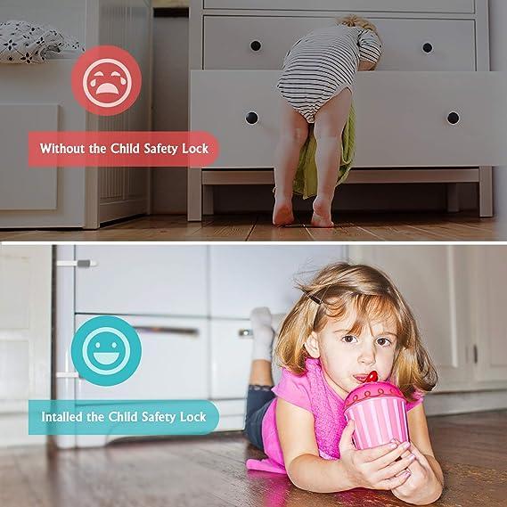 6 Pack Cerraduras de Seguridad para niños, Besfair Cerradura para ...