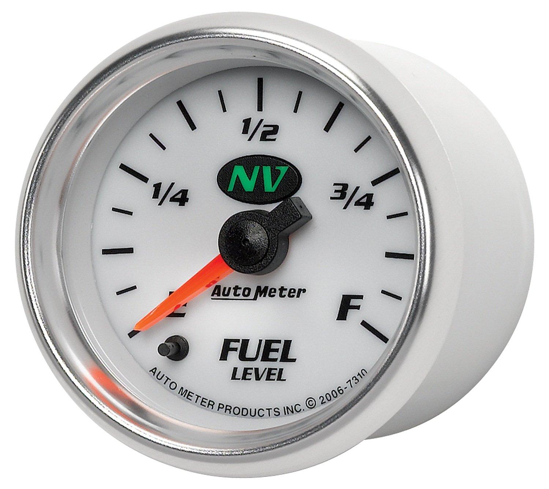 Auto Meter 7310 NV Full Sweep Electric Programmable Empty Full Range Fuel Level Gauge