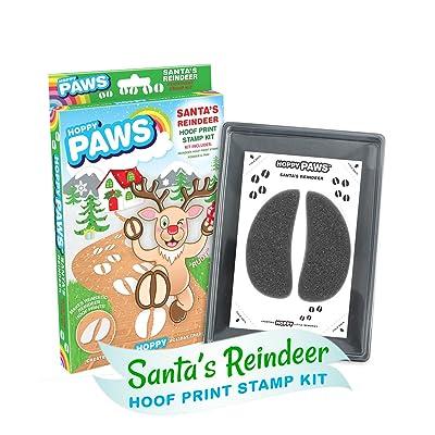 """Hoppy Paws """"Santa's Reindeer Hoof Print Stamp Kits: Toys & Games"""