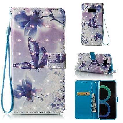 MEETER Funda Samsung S8 Plus, Flip Case Cover de Cuero PU Piel para Galaxy S8