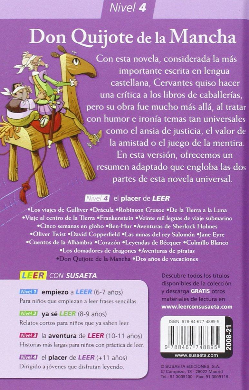 Don Quijote de la Mancha El placer de LEER con Susaeta - nivel 4: Amazon.es: Susaeta Ediones S A: Libros