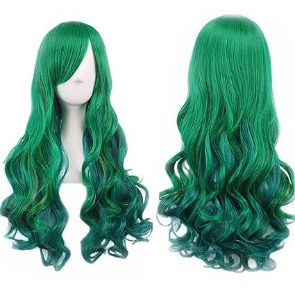 """TLT 27,5 """"completo de las mujeres peluca largo pelo rizado resistente al"""