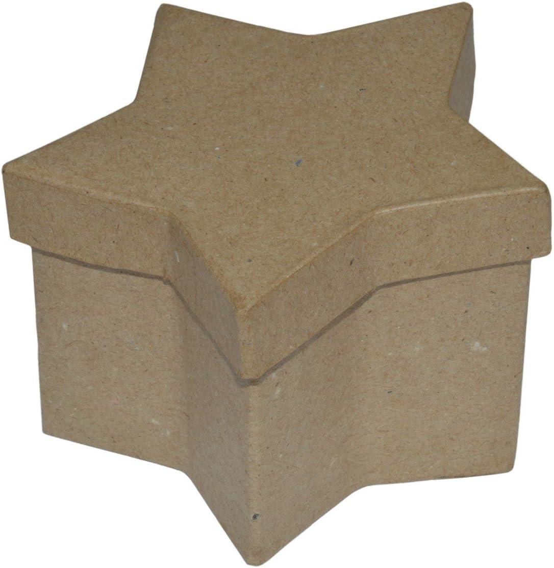 Estrella caja - regalo-cartón estrella para Manualidades pintar ...