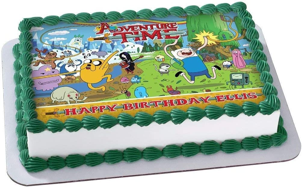 Sensational Amazon Com Adventure Time Edible Cake Topper Personalized Funny Birthday Cards Online Fluifree Goldxyz