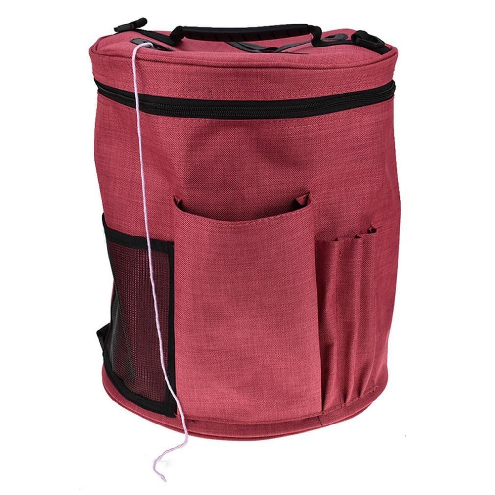 Storage Box,Clearance!AmyDong Family Storage Pouch Oxford Cloth Bag Lightweight Portable Yarn Crochet Thread Storage Organizer Tote (A)