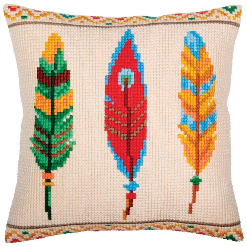 Collection DArt Plumelets for Dreamcatcher Pillow Cover Needlepoint Kit