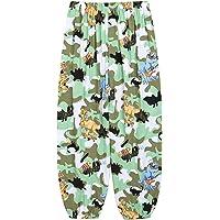 Mufeng Pantalones Casuales Estampado de Dinujos Animados para Niños y Niñas Unisex Pantalones Bombachos de Cintura…
