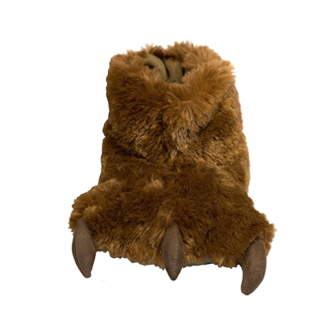 6fd95019a1c Lazy One Brown Bear Paw Slippers