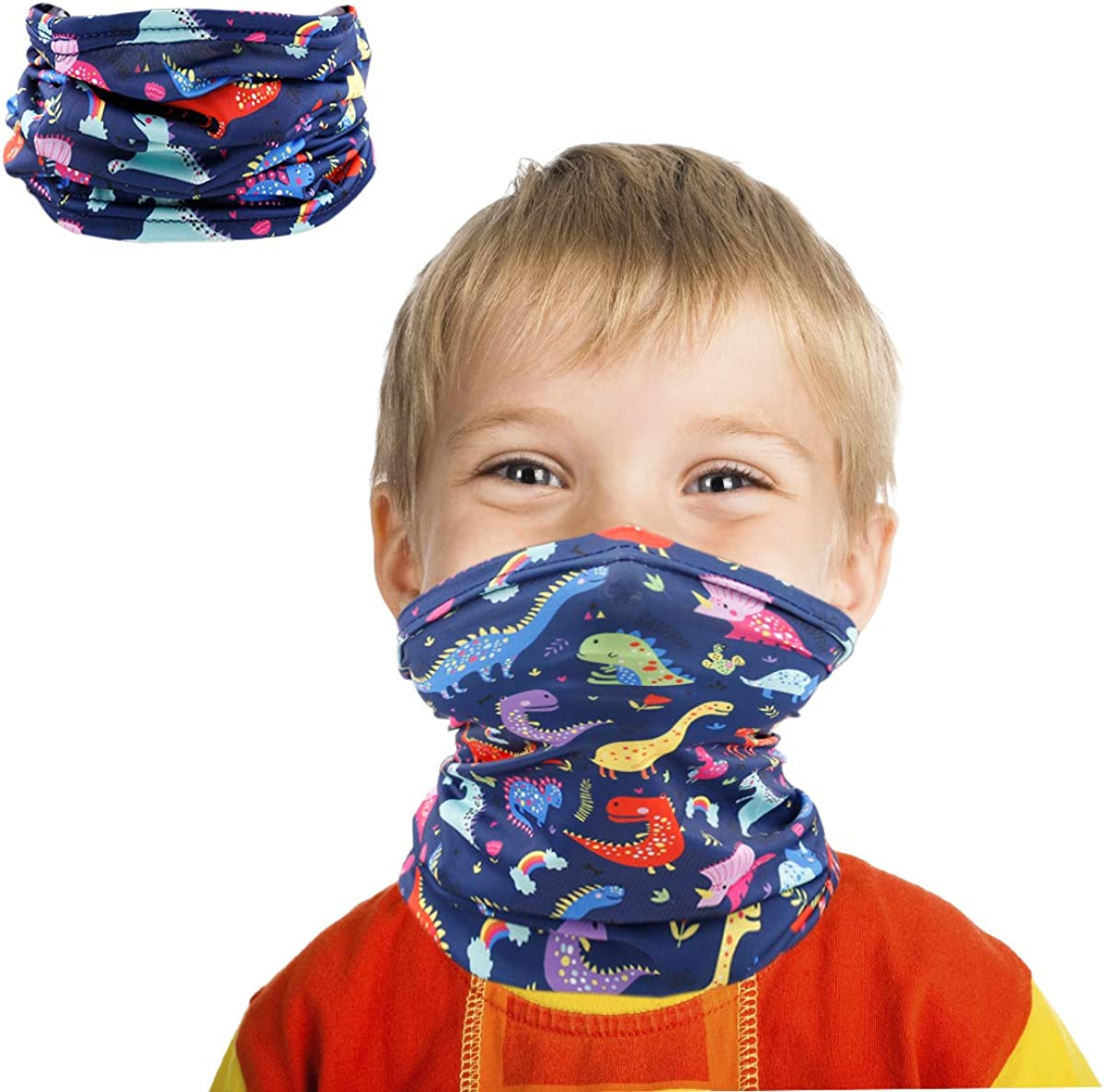 Kids Neck Gaiter Bandana Face Cover Summer for Dust Protection Reusable Cooling