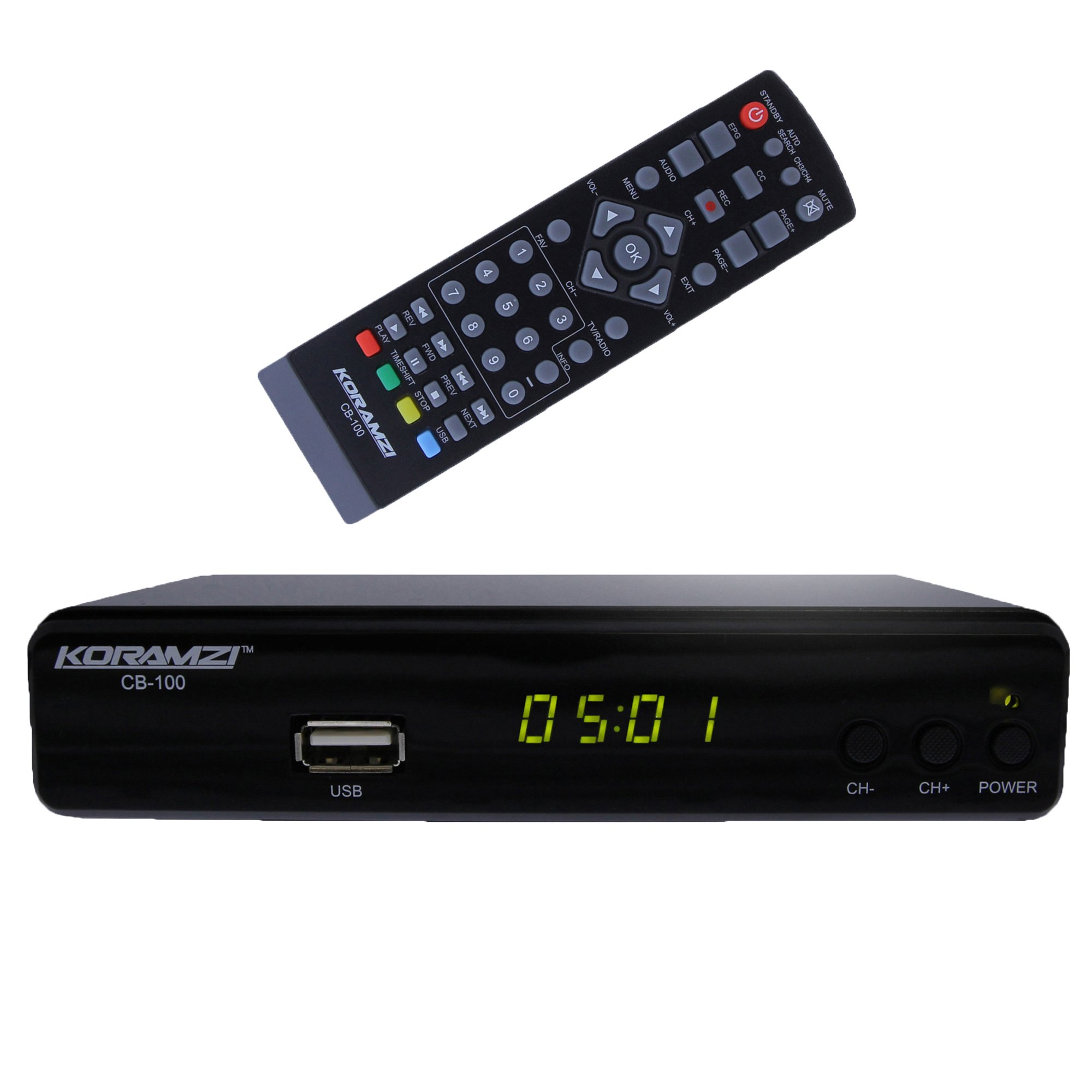 Tv Converter Box Analog To Digital W Remote Dvr Recording ...