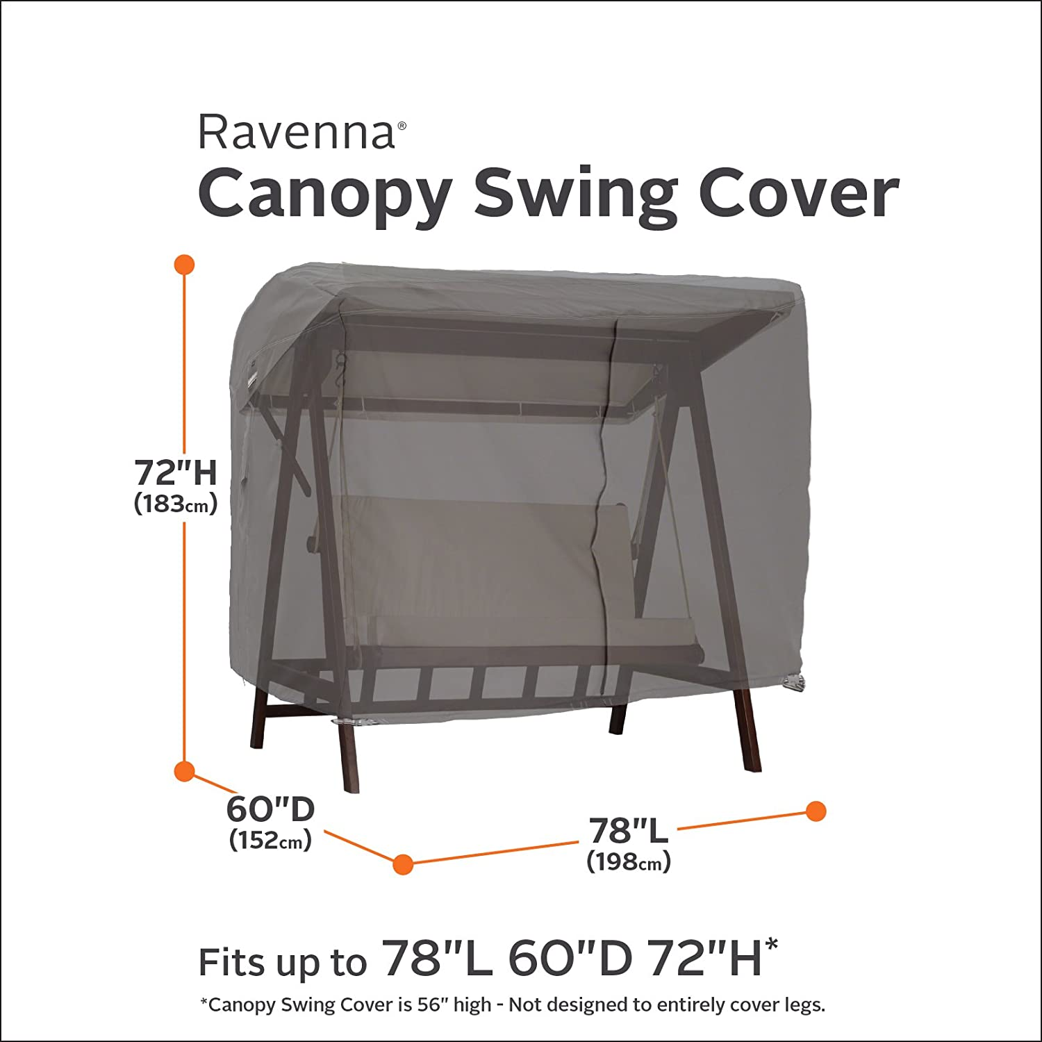 Amazon Classic Accessories Ravenna Patio Canopy Swing Cover