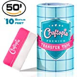"""6""""x50 FT CLEAR Transfer Paper Tape Roll w/ Blue Alignment Grid 