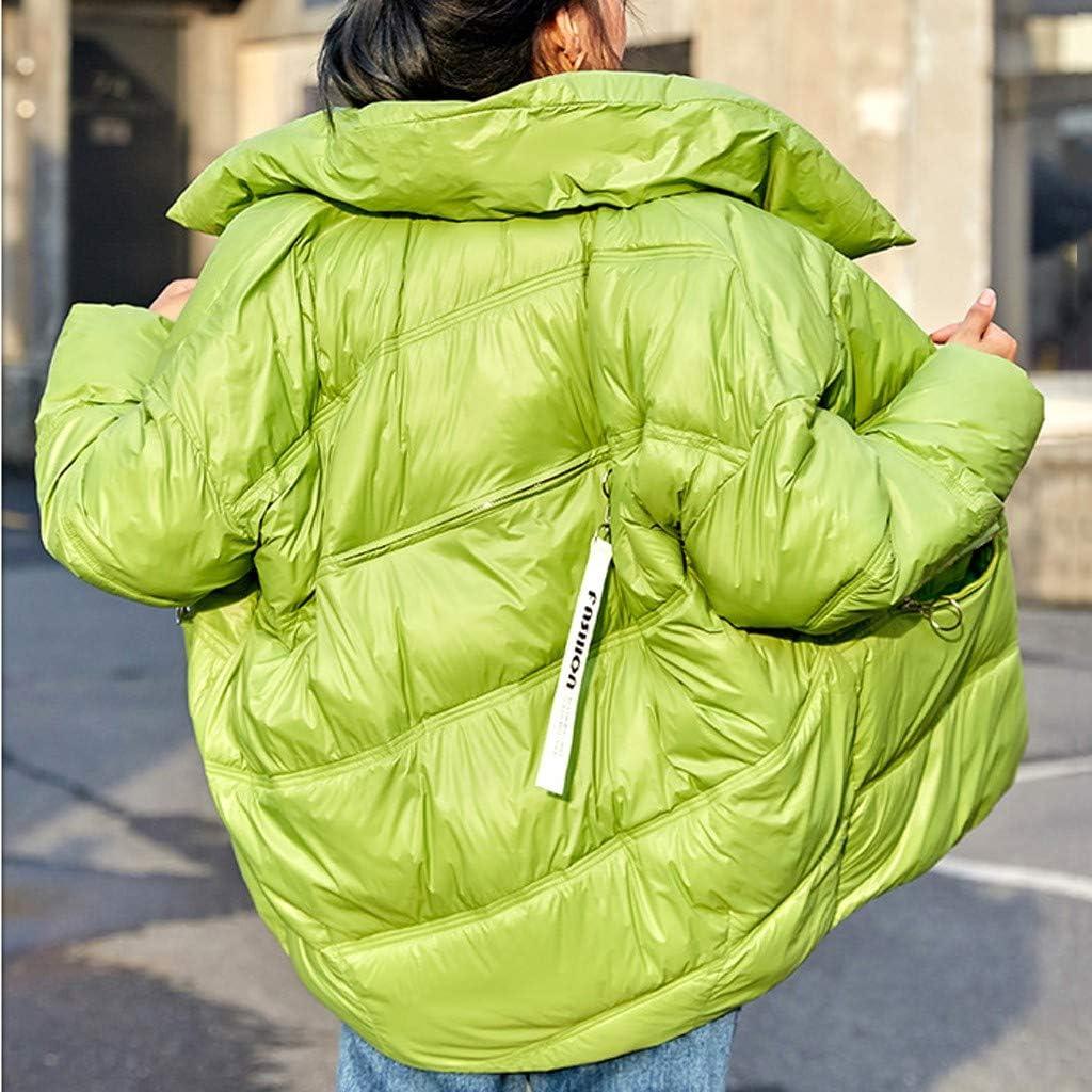 Womens Lightweight Waterproof Puffer Jacket Winter Warm Open Front Cardigan Loose Long Sleeves Pockets Coats