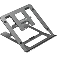 Evolve Laptop Stand. Portable, Lightweight, Collapsible Metal Laptop Stand with Multiple Adjustments. (grey)
