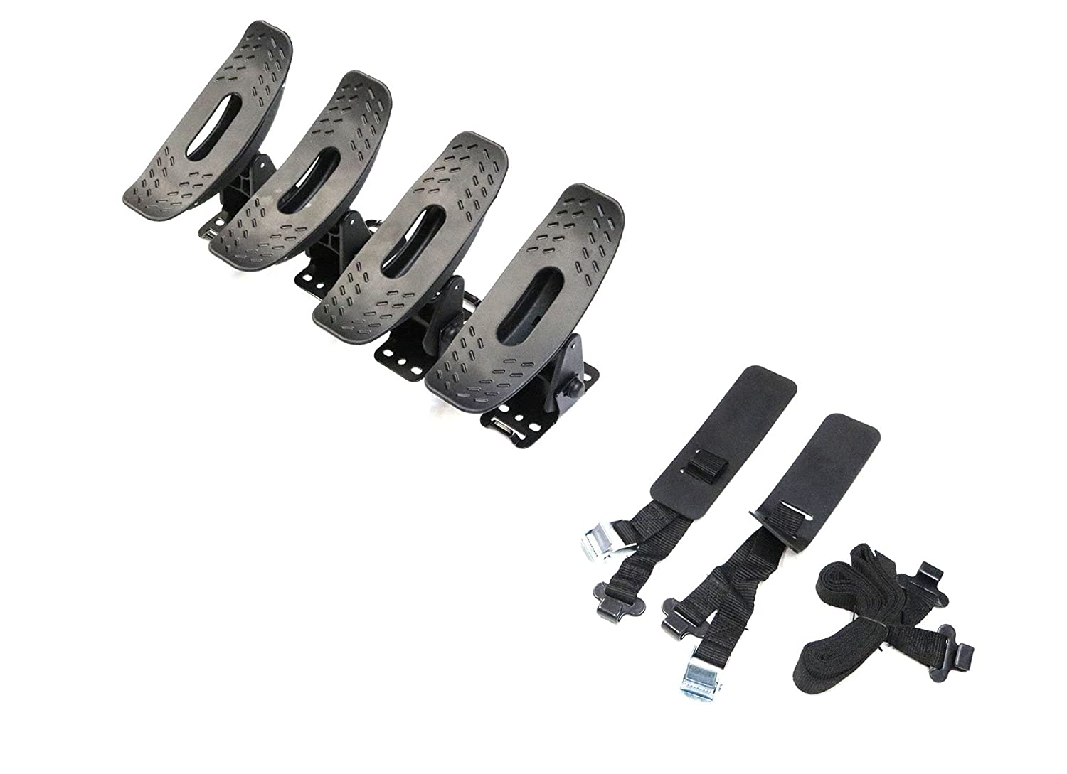 TMB Universal Dual Kayak Mounting System V1 fits most Vehicles Equipped with Cross Bars
