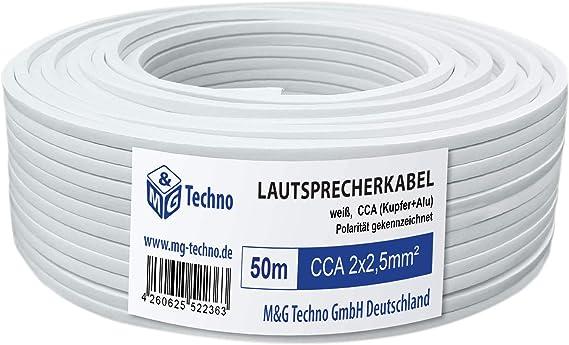 M G Techno 50m Lautsprecherkabel 2 X 2 5mm Cca Elektronik