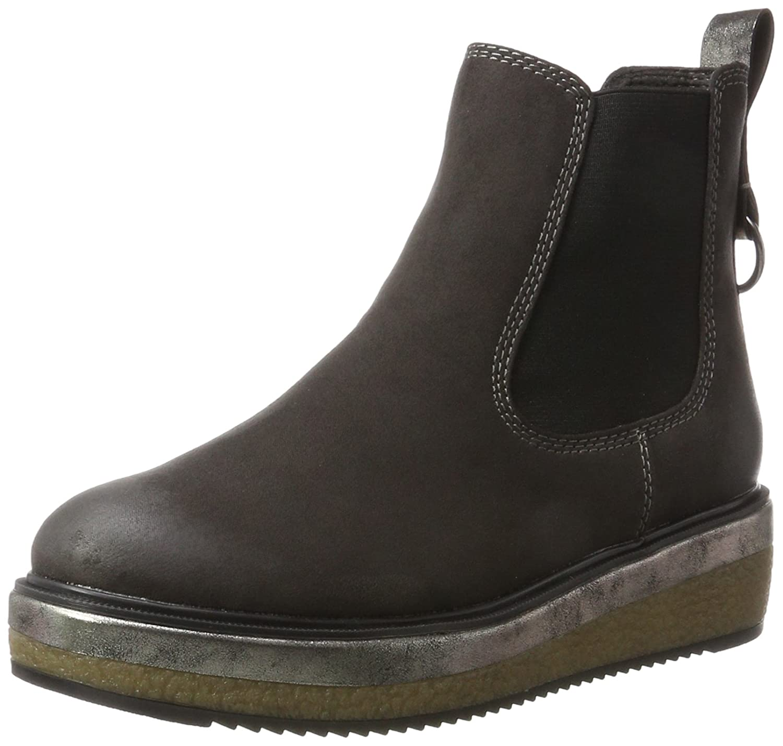 TOP Stiefeletten Damenschuhe Used Boots 2195 Blau Grau 41