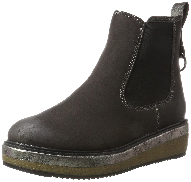 Fashion Stiefel Damen Schuhe Schnurer 5562 Grau 38