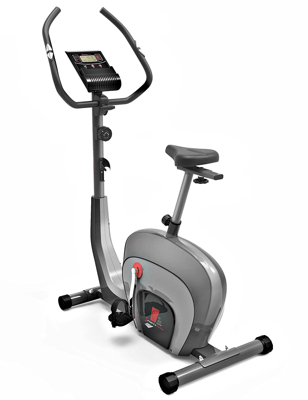 Bicicleta Ergómetrica Sportstech ES400 para casa, Control de app para smartphone, volante de inercia de 10 kg, Bluetooth, Pulsometro, sistema de freno ...