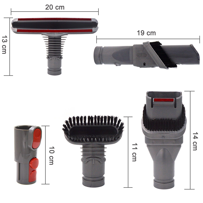 Cepillo Kit de Accesorios para Dyson V8 V7 V10 Aspirador- Cepillos de Recambios para Dyson v6 DC34 DC35 DC59 DC62 etc Aspiradora Repuestos Set (5 en 1): ...