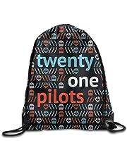 Dhrenvn American Band Twenty One Pilots Drawstring Backpack Sack Bag/Travel Bags