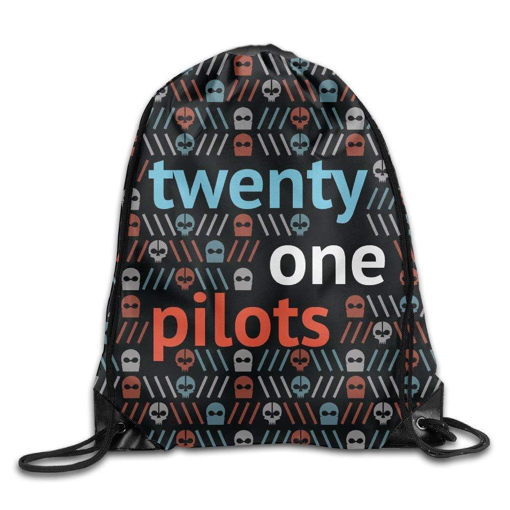 Dhrenvn American Band Twenty One Pilots Drawstring Backpack Sack Bag//Travel Bags