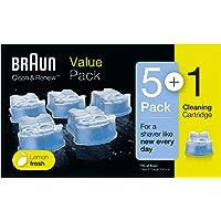 Braun Clean&Renew Afeitadora Eléctrica Hombre, Cartuchos de Recarga para Centro de Limpieza SmartCare, Pack 5+1…